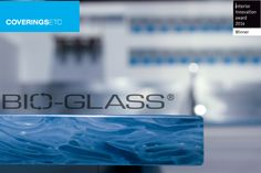 "Bio-Glass received the ""Interior Innovation Award – Winner 2014"" distinction in the ""Wall, Floor, Ceiling"" products category.  Topaz Blue, is the latest color to the Bio-Glass collection.  All of the Bio-Glass colors are 100% upcycled and made from 100% post consumer recycled glass.  No colorants, epoxies or resins are added during the manufacturing process. #bio-glass #interiorinnovationaward #2014 #recycled #100% #upcycled #topazblue #coveringsetc #designer #architect #google"