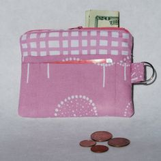 Change Purse Wallet Zipper Fabric Orchid/Mauve by mylifeinfabric, $14.00