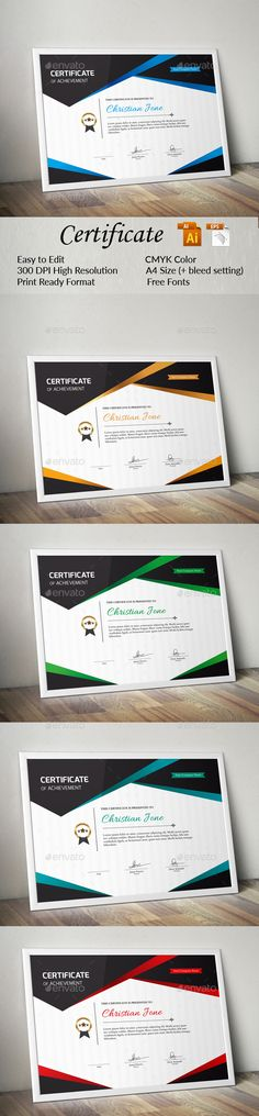 #Certificate - Certificates #Stationery Download here: https://graphicriver.net/item/certificate/17998975?ref=alena994