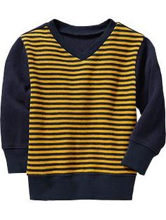 Striped Textured-Rib Tees for Baby