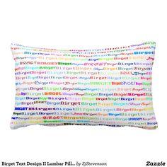 Birget Text Design II Lumbar Pillow