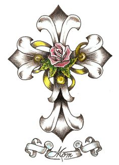 clip art crosses free | Celtic Cross Clip Art Tattoo Design + Rose Flower | Just Free Image ...
