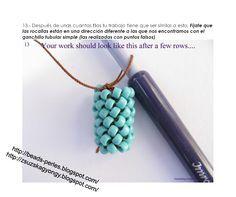 Very nice tutorial for single bead crochet.  Spanish/English