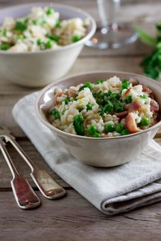 Risotto with Peas & Bacon