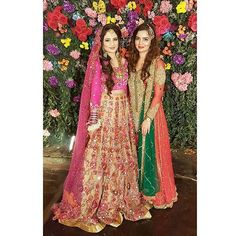 Happy brides are the prettiest brides  Heena Ghuri stuns in @allechant_couture and @mehrrunnisa looks like a million bucks in this @humza.r.chaudhry formal . . . . . . . #fashionblog #stylefiles #fashiondiaries #stylepick #weddingbells #fashiongram #traditonal #fashionaddict #pakistanifashion #styleguide #pickoftheday #weddinggalore #fashiondaily #styletips #outfitinspo