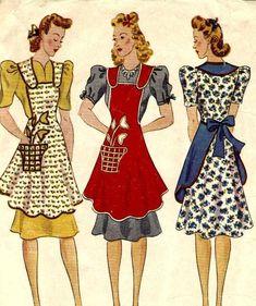 1920s apron patterns by gladys