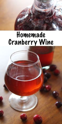 Homemade cranberry wine is easy to make with fresh fruit or cranberry juice. Just a few ingredients and you're well on your way to a simple, homemade country wine that's perfect for sipping all winter long (especially around the holidays). Homemade Wine Recipes, Homemade Alcohol, Homemade Beer, Homemade Cranberry Wine Recipe, Cranberry Recipes, Alcoholic Drinks Vodka, Fruit Drinks, Wine Drinks, Drinks Alcohol