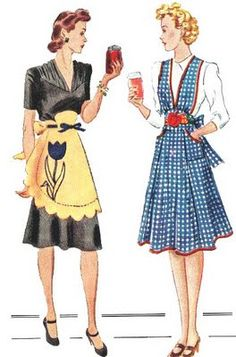 vintage aprons.  I remember when my grandmother wore an apron when cooking....seemed like she wore it all day long!