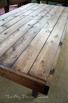 Free DIY Furniture Plans To Build A Rustic Outdoor Table | The Design  Confidential | DIY Furniture | Pinterest | Diy Furniture Plans, Outdoor  Tables And ...