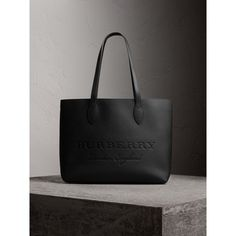 Large Embossed Leather Tote