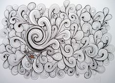 """A Curl"" Original pen and ink drawing"