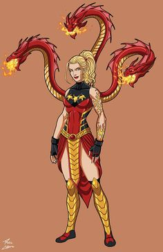 Fire Hydra OC commission by phil-cho on DeviantArt What's The Quickest and Easiest Way toMake Serious Money Online? Superhero Characters, Fantasy Characters, Female Characters, Female Superhero, Fantasy Character Design, Character Design Inspiration, Character Concept, Fantasy Warrior, Fantasy Girl