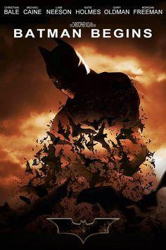 Batman Begins - In my top 10 favorite movies Batman Begins Movie, Batman Film, Batman Art, Joker Film, Batman Poster, Batman Robin, The Dark Knight Trilogy, The Dark Knight Rises, Batman The Dark Knight