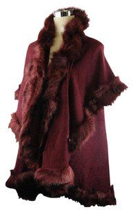Other Red Faux Fur Cape