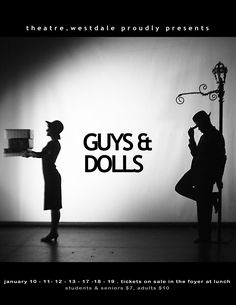 Here's a completely opposite take of the colorful abstract cityscapes. Some people go with a Noir look for Guys and Dolls Harlem Nights Party, Stage Set Design, Guys And Dolls, Silhouette Photo, Musicals, Student, Cityscapes, Concert, Plays