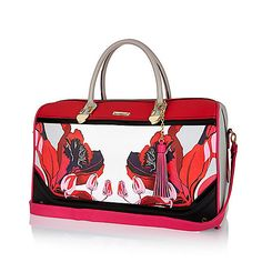 a40184416 Red floral print weekend bag - make up bags / luggage - bags / purses -