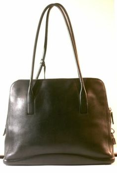 This is an authentic PRADA Leather Madras Cerniera Doctor Bag Nero ...