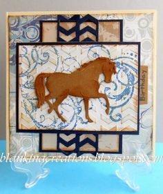 Blankina creations: Marianne Design male horse card
