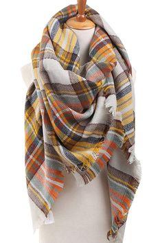 Women's Winter Soft Plaid Tartan Checked Scarf Large Blanket Wrap Shawl at Amazon Women's Clothing store: