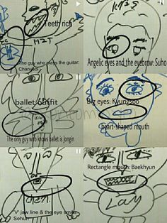 This is how M members think about K members LOL ♥ Geeze, why so handsome? hahah XD (Never thought Id see the day when Kris' drawing was the best....yeah...) #EXO
