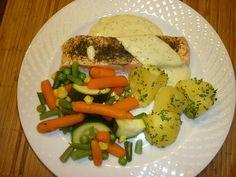 Rezept Lachs in Kräuter-Senf-Sauce mit Kartoffeln und Gemüse von ildvghfi - Rezept der Kategorie Hauptgerichte mit Fisch & Meeresfrüchten