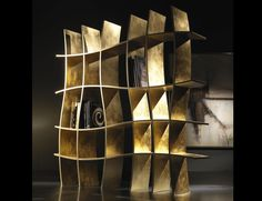 If you need something contemporary to complete your artistic room interior decoration, these curve bookcase design is the most beautiful to have. Bookcase that Creative Bookshelves, Bookshelf Design, Funky Furniture, Unique Furniture, Luxury Furniture, Furniture Online, Garden Furniture, Furniture Inspiration, Design Inspiration