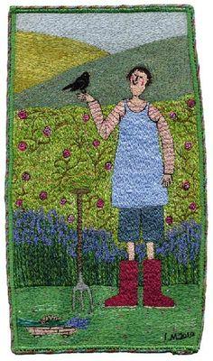 Linda Miller | 'My Friend, The Blackbird' (2010). Machine embroidery.