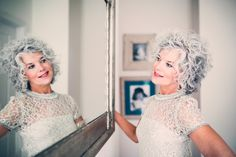How to Go Gray — Gray is the new Blond How to Go Gray — Gray is the new Blond Salt and pepper gray hair. Aging and going gray gracefully. Grey Curly Hair, Silver Grey Hair, Short Curly Hair, Curly Girl, White Hair, Gold Hair, Blonde Hair, Medium Hair Styles, Curly Hair Styles