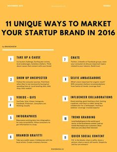 #Startups come up by the minute. Here are unique ways to market your Startup brand in 2016 and ensure that you stand out. Small steps make a big difference. via brandanew.co