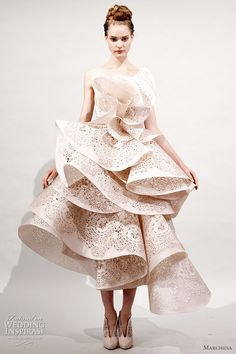 ¿Novia de papel? - ℘ Paper Dress Prettiness ℘ art dress made of paper -