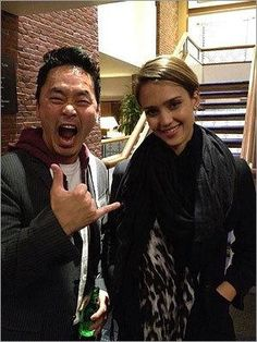 While in town to celebrate her partnership with Cambridge-based investment firm General Catalyst Partners, actress Jessica Alba (with tech whiz Mok Oh) had dinner with friends at Rialto at the Charles Hotel.