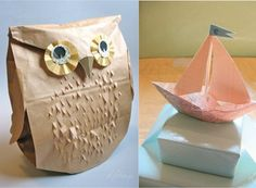 Paper bag owl DIY