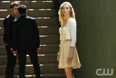 """The Vampire Diaries -- """"O Come, All Ye Faithful"""" -- Pictured (L-R): Paul Wesley as Stefan, Michael Trevino as Tyler, and Candice Accola as Caroline -- Image Number: VD409a_0103.jpg -- Photo: Bob Mahoney/The CW -- © 2012 The CW Network, LLC. All rights reserved."""