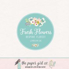 florist logo design floral logo design flower by ThePaperGirlCo