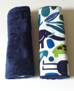 Car Seat Strap Covers - Reversible - 2 D Zoo with Navy Blue Minky Dot on Etsy, $8.00
