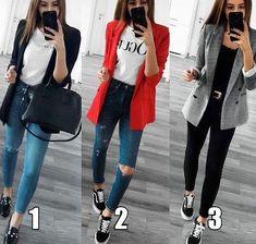 """4d03544e6 Patrícia (Blog de Moda) 🌟 on Instagram: """"* Qual dos três looks você  escolheria para o seu Trabalho amanhã?? . . .by: Pinterest #lookcorporativo  ..."""