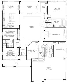 Durango Trail Model Plan 2A #floorplan #singlestory #lasvegas