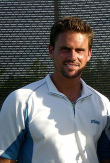 Jan-Michael Charles Gambill (born June 3, 1977 in Spokane, Washington, United States) is a currently inactive American tennis player who made his professional debut in 1996. His career-high singles ranking is World No. 14, which he achieved on June 18, 2001. Best known for his unusual double-handed forehand,[1] Gambill reached the quarter-finals of the 2000 Wimbledon Championships, the final of the 2001 Miami Masters and won 3 singles titles.