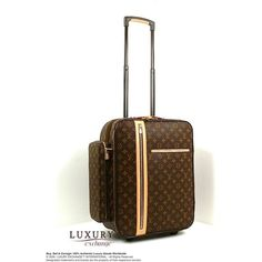 Authentic Louis Vuitton Monogram Trolley 50 Bosphore Travel Luggage... ❤ liked on Polyvore featuring bags, luggage and louis vuitton