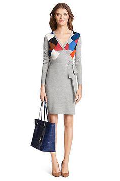 DVF Leandra sweater wrap dress