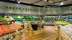 Retail shop, supermarket design, design commercial, commercial lighting, re Bio Design, Design Food, Shop Interior Design, Retail Design, Store Design, Shop House Plans, Shop Plans, Design Commercial, Commercial Lighting
