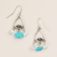 One of my favorite discoveries at WorldMarket.com: Small Silver Turquoise Dangle Earrings