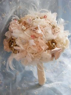 Vintage inspired Wedding Bridal brooch bouquet set