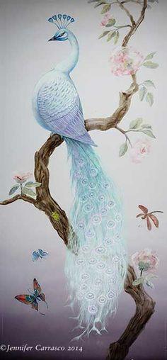 Jenoiserie • White Peacock Jennifer McCabe Carrausco