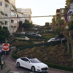 Even the tightest turns are no match for #ModelS. #FanPhoto from Jennifer G. #SF #cars #tesla #TagsForLikes #car #tagforlikes #L4L