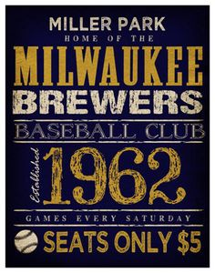 Milwaukee Brewers Print   11x14  Miller Park by TheLemonPeel
