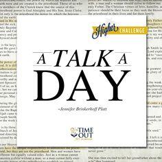 A Talk A Day..keeps satan away