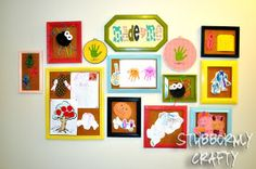 Stubbornly Crafty: Made by Me Kids Art Wall