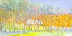 Jerald Melberg Gallery > Artists > Gallery Artists > Gallery Artists - Wolf Kahn > Kahn - Long and Narrow 30x60 oil 2015