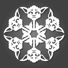Star Wars snowflakes. This site as diagrams for 12 different characters so you can make your own